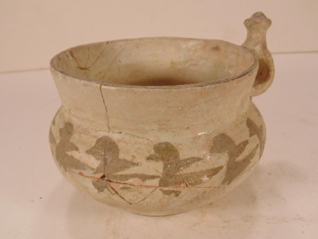 Nishapur Islamic Ceramic cup with ear, cream ware - 2