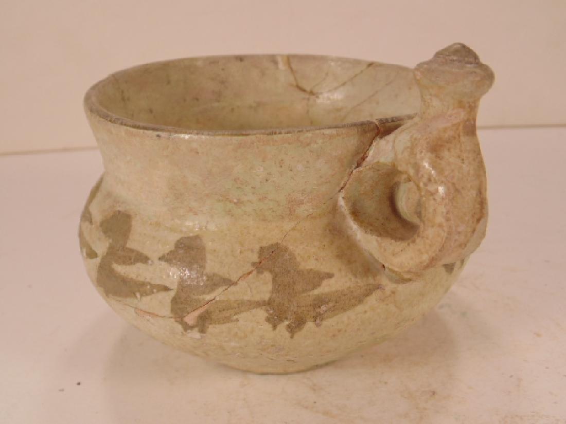Nishapur Islamic Ceramic cup with ear, cream ware - 3