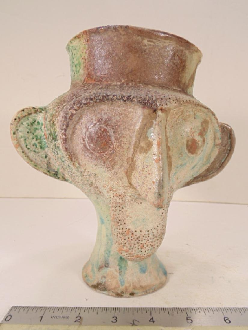 Ceramic Islamic Figural Jug, Ceramic vessel is shaped