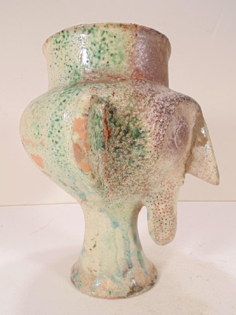 Ceramic Islamic Figural Jug, Ceramic vessel is shaped - 2