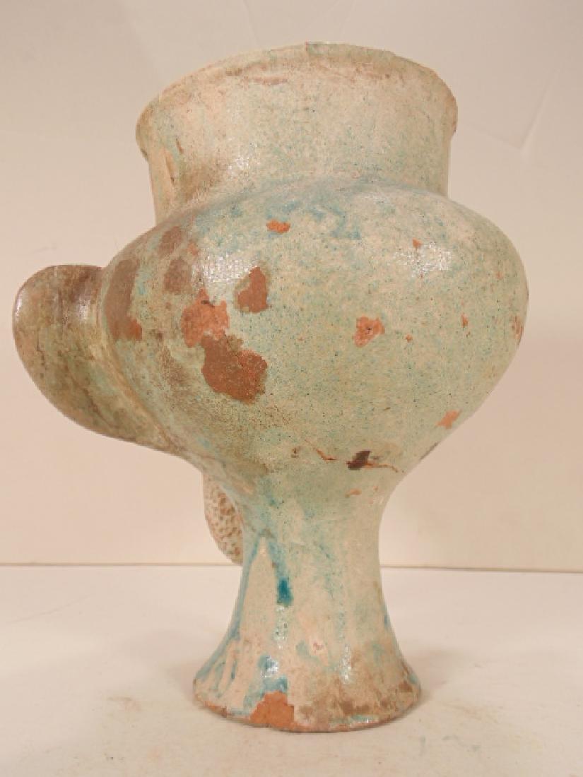 Ceramic Islamic Figural Jug, Ceramic vessel is shaped - 4