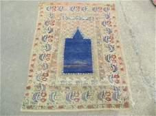 Persian prayer rug blue center 67 by 51 decorative