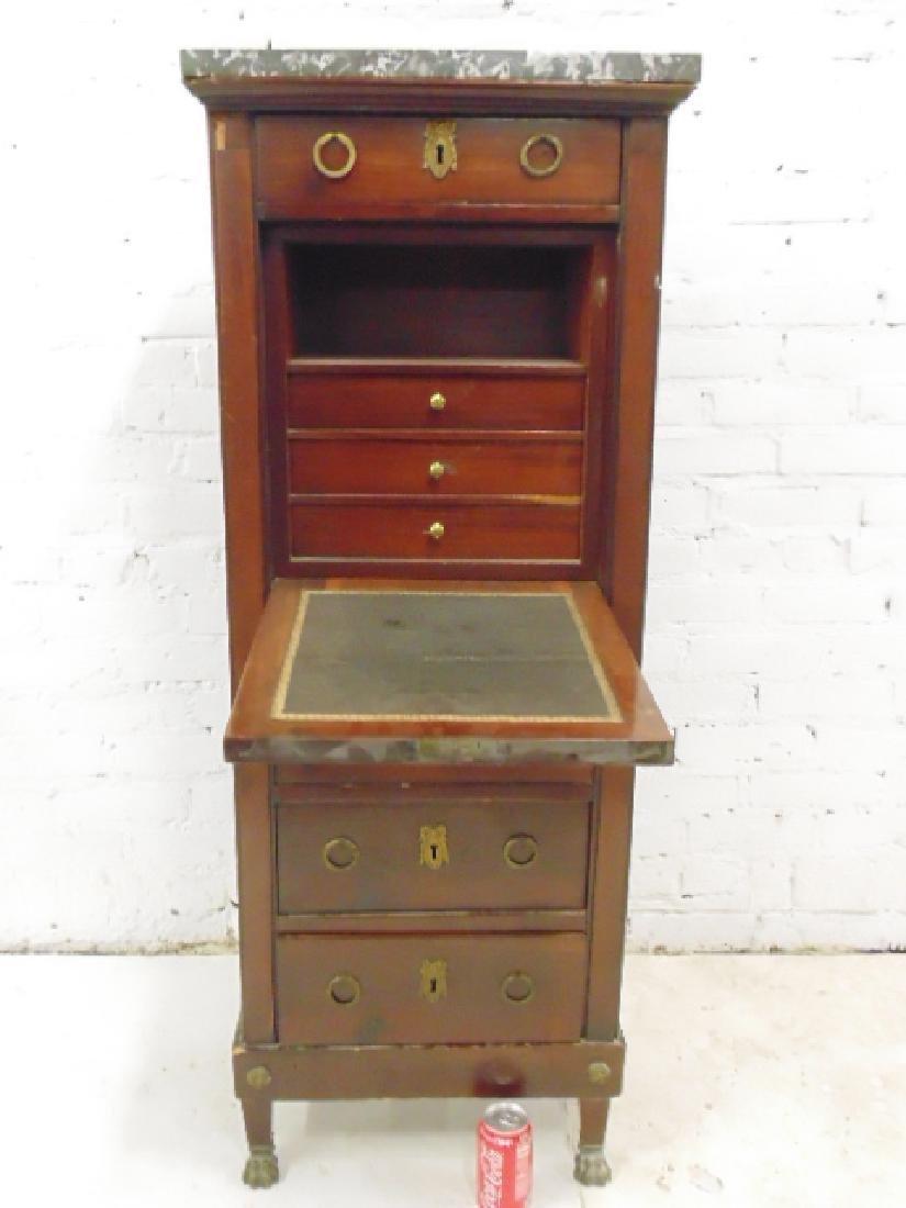 Drop front desk, lingerie style case, 3 drawers, drop - 2