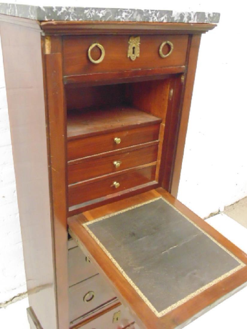Drop front desk, lingerie style case, 3 drawers, drop - 3