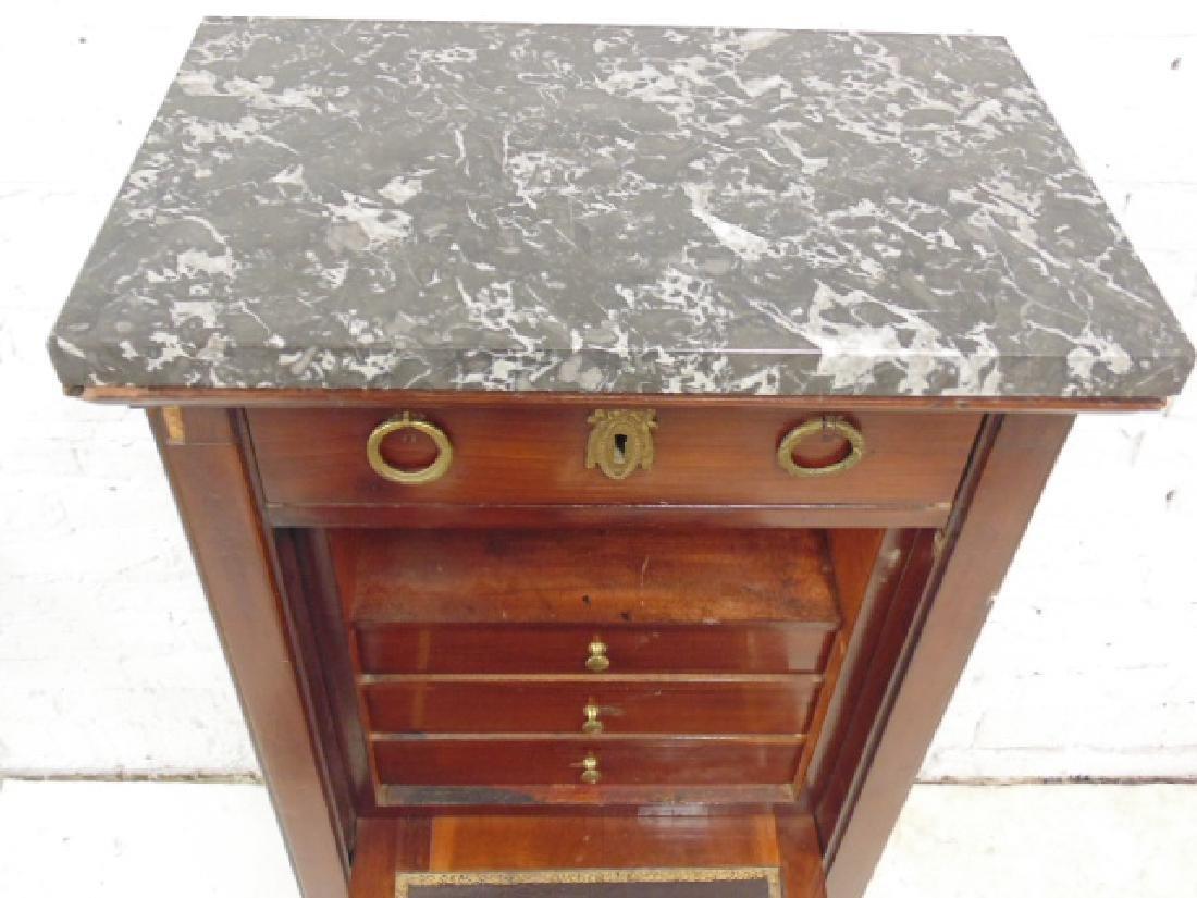 Drop front desk, lingerie style case, 3 drawers, drop - 4