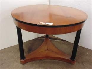 German Biedermeier round table black column base top