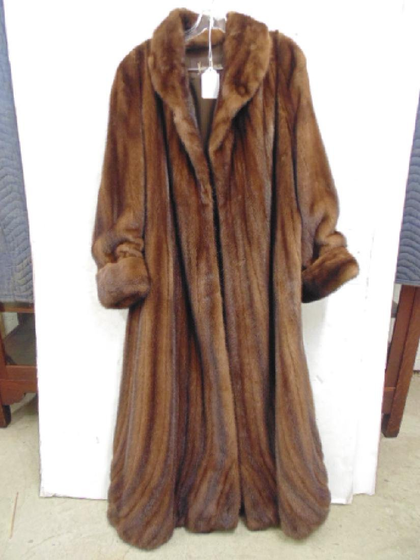 Neiman Marcus long mink coat size 16 good condition