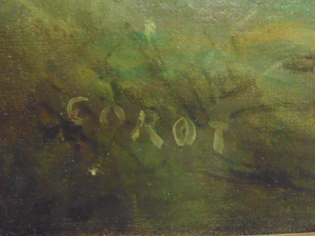 Painting, landscape with figures, cattle, signed - 5