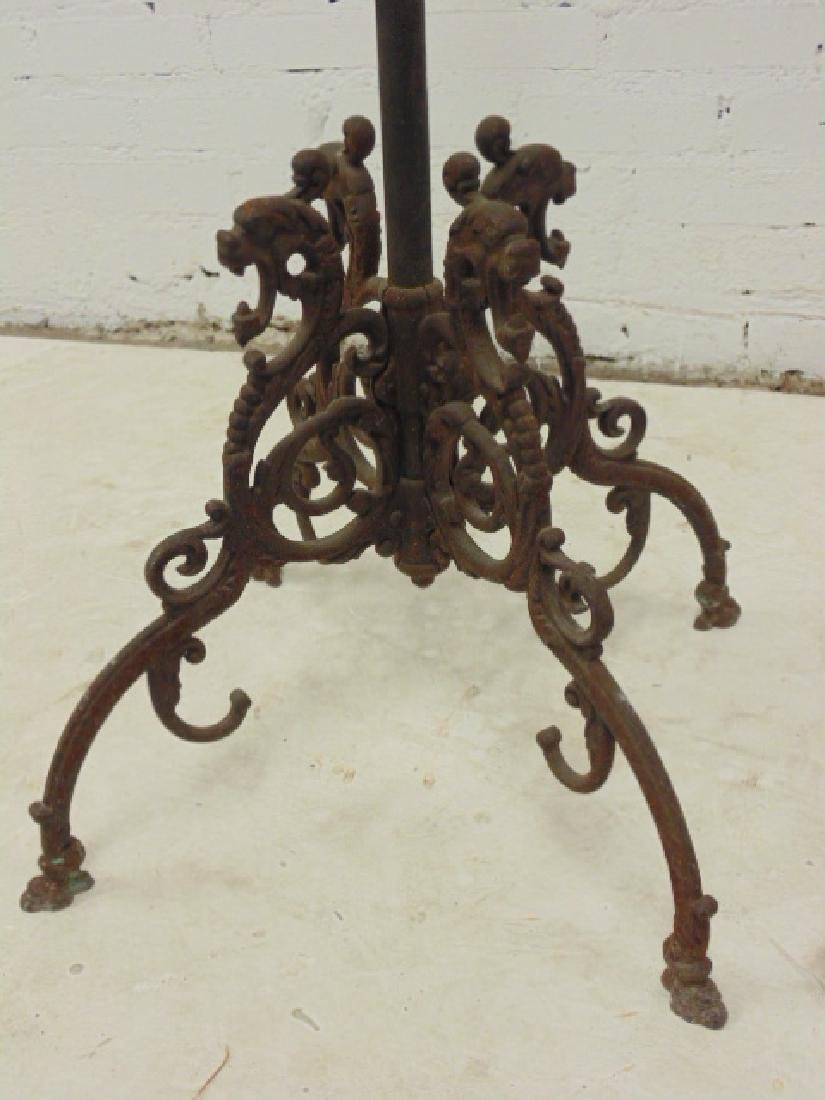 Iron hall tree, umbrella stand, removable top hooks, - 4