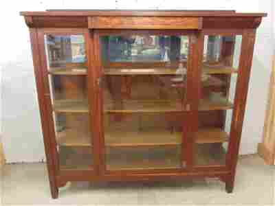 Stickley Brothers china cabinet, 3 glass panel front,