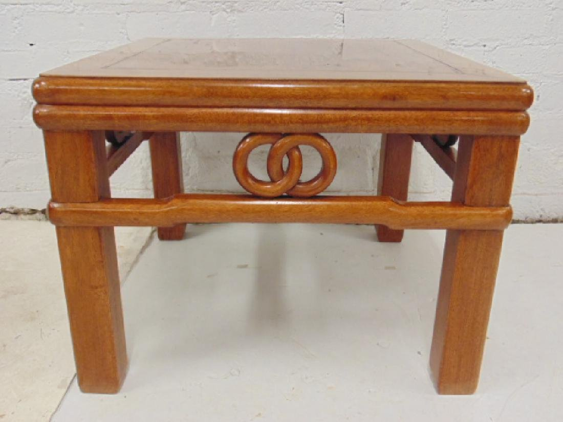 Pair Chinese side tables with carved skirts, each table - 4