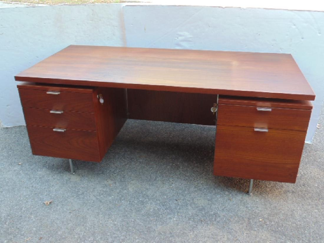 George Nelson, Herman Miller desk, double pedestal with