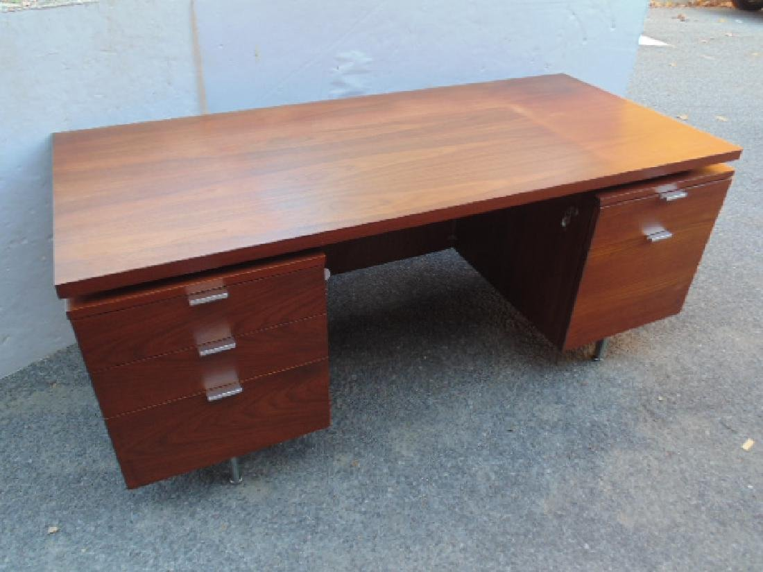 George Nelson, Herman Miller desk, double pedestal with - 2