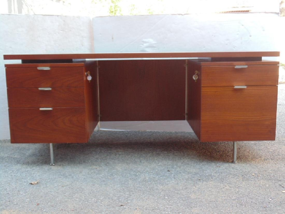 George Nelson, Herman Miller desk, double pedestal with - 3