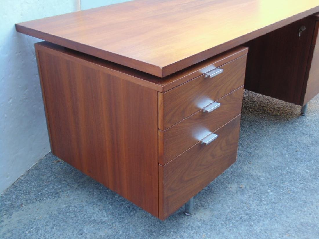 George Nelson, Herman Miller desk, double pedestal with - 4