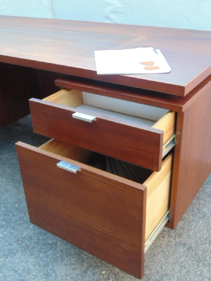 George Nelson, Herman Miller desk, double pedestal with - 6