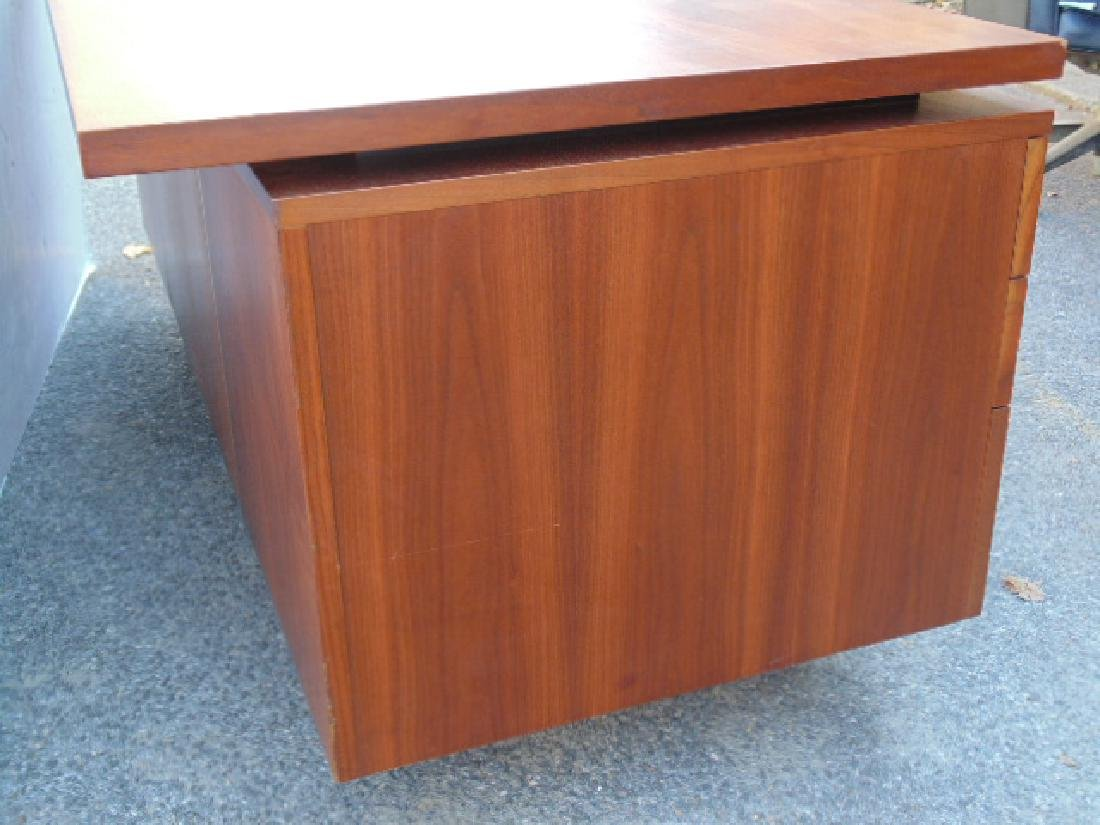 George Nelson, Herman Miller desk, double pedestal with - 9