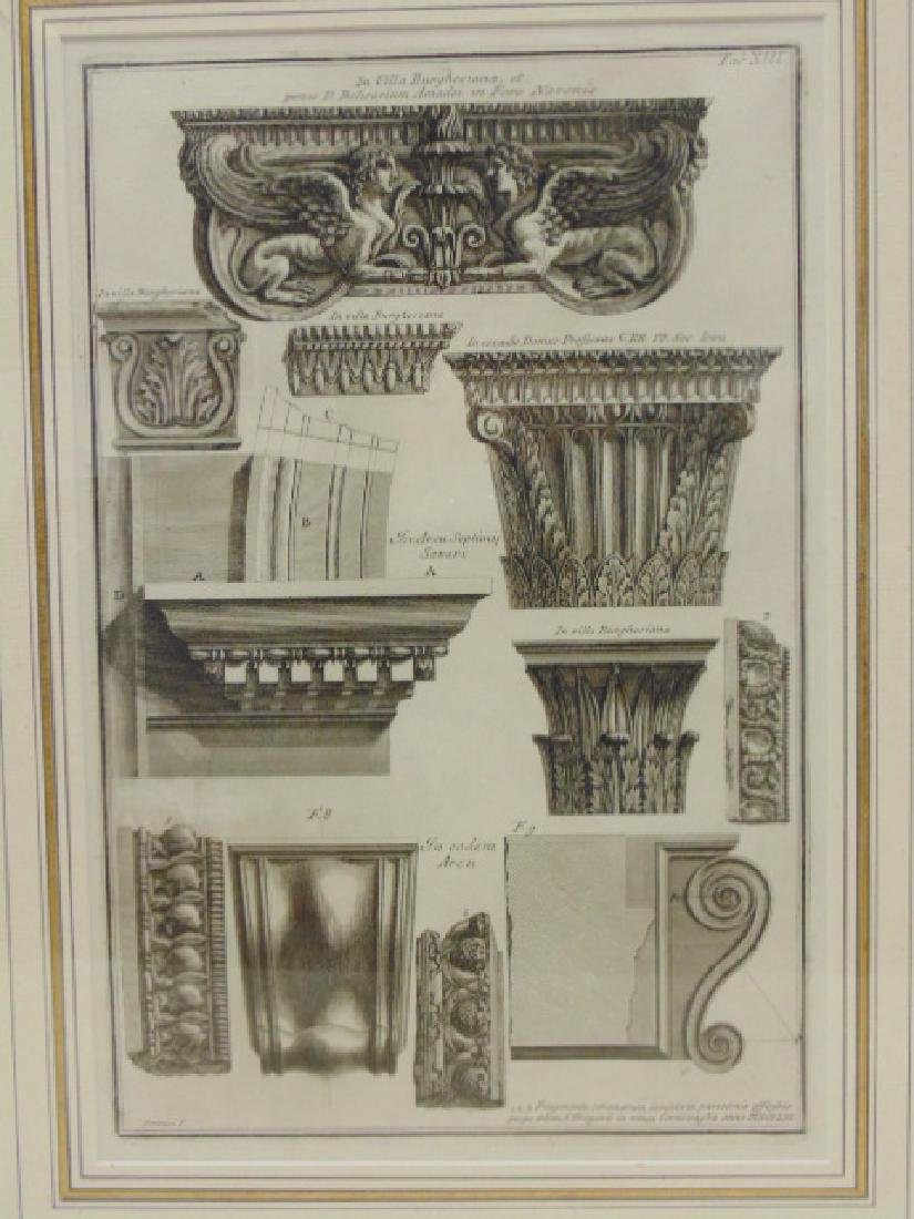 Pair Piranesi etchings, architectural elements, - 2