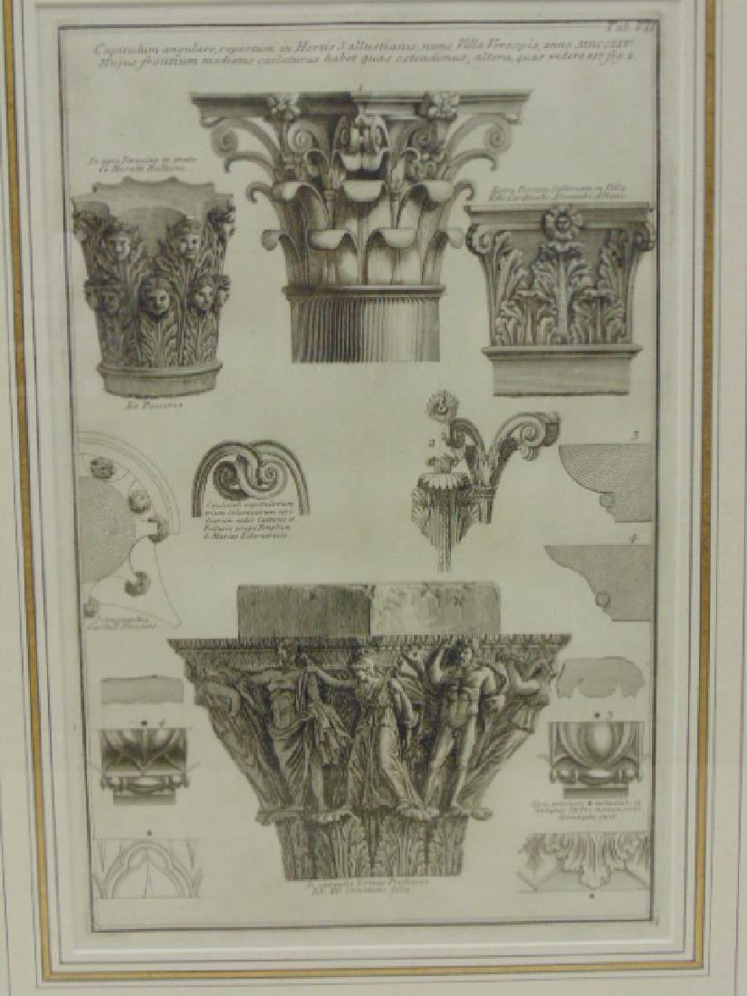 Pair Piranesi etchings, architectural elements, - 3
