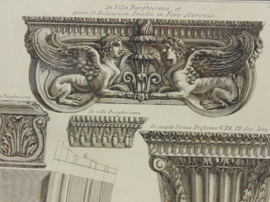 Pair Piranesi etchings, architectural elements, - 4