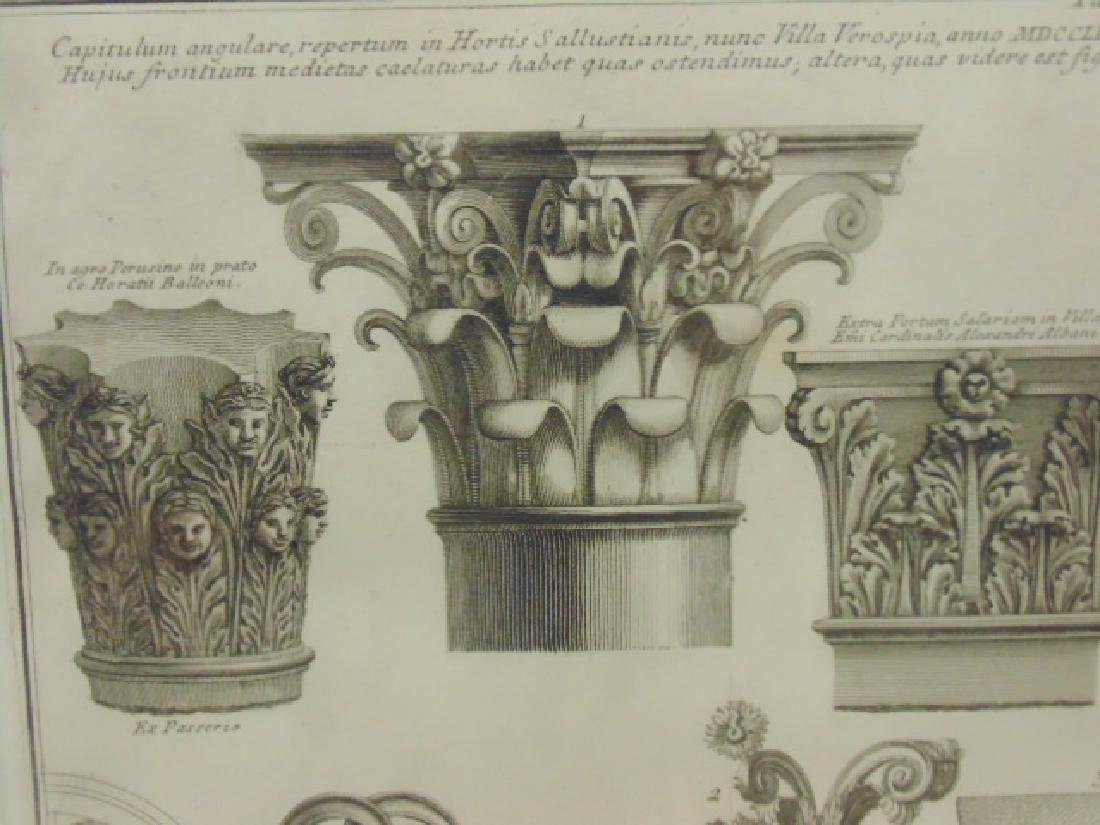 Pair Piranesi etchings, architectural elements, - 5