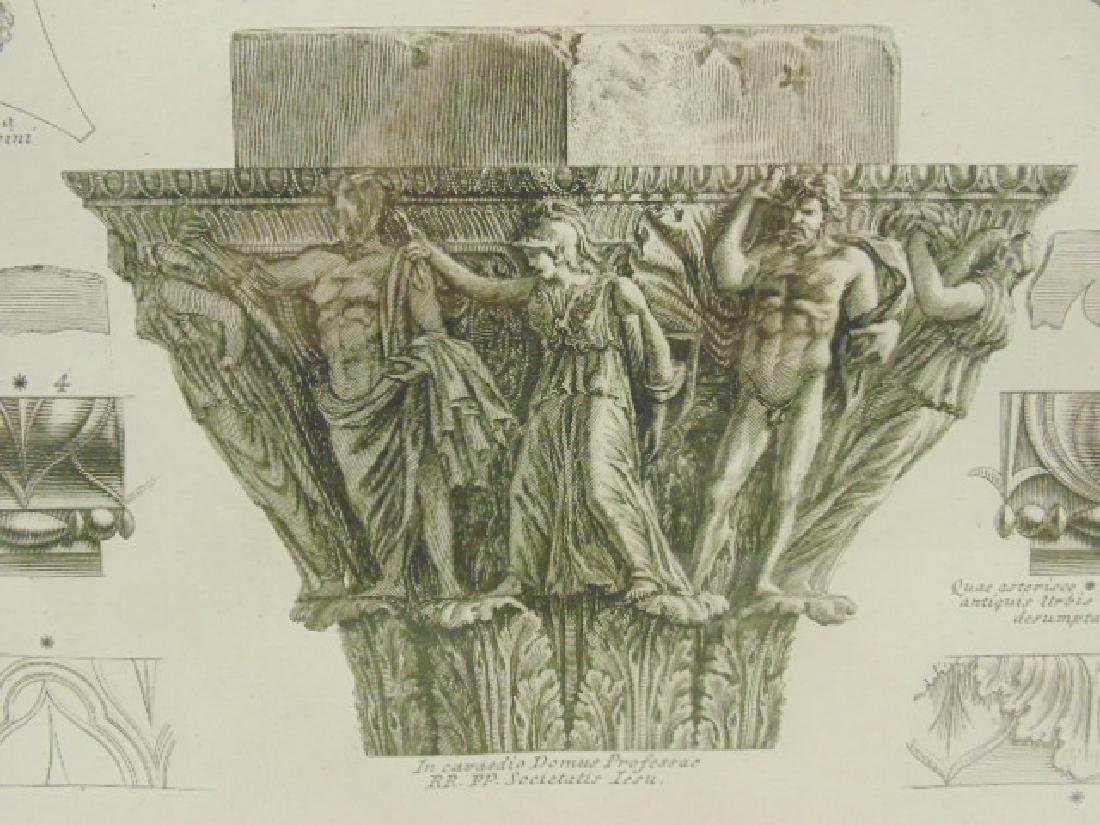 Pair Piranesi etchings, architectural elements, - 6