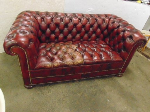 Red Leather Chesterfield Loveseat 2 Seater Sofa Nov 19 2018