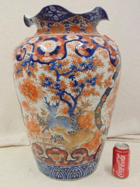 Large Japanese Imari palace vase, 19th Century - 2