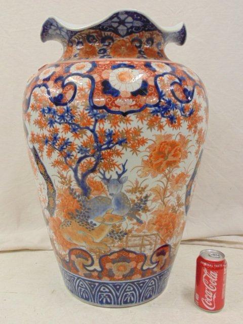 Large Japanese Imari palace vase, 19th Century - 4