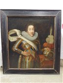 Painting, portrait of nobleman in armor, 1623, signed