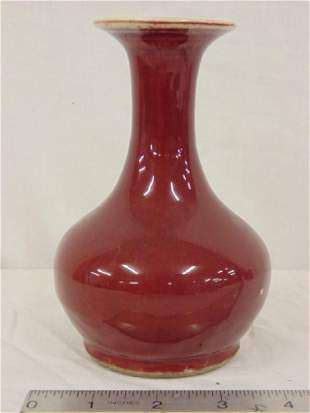 Small Chinese oxblood vase, flared rim, good condition,