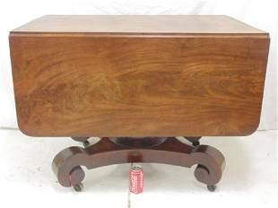Empire drop leaf table center pedestal design top is