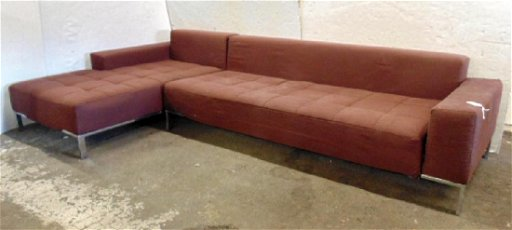 Zanotta Mid Century sectional sofa, Italian 2 piece