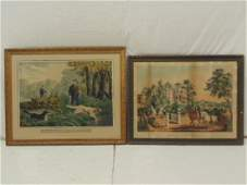 N Currier  Chas Hart prints American Country Life