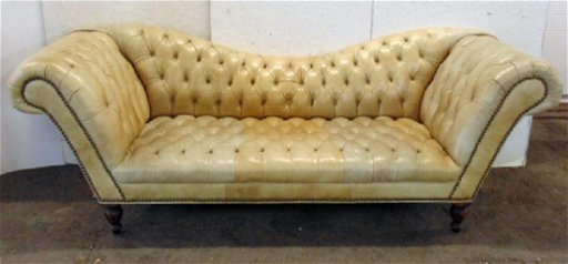Leather Chesterfield sofa, in light brown leather, - Mar 11, 2019 ...