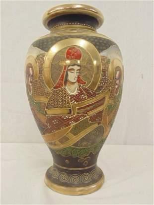 Japanese porcelain vase decorated with figures gilt