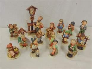 15 Hummel figurines including Little Fidler Chick