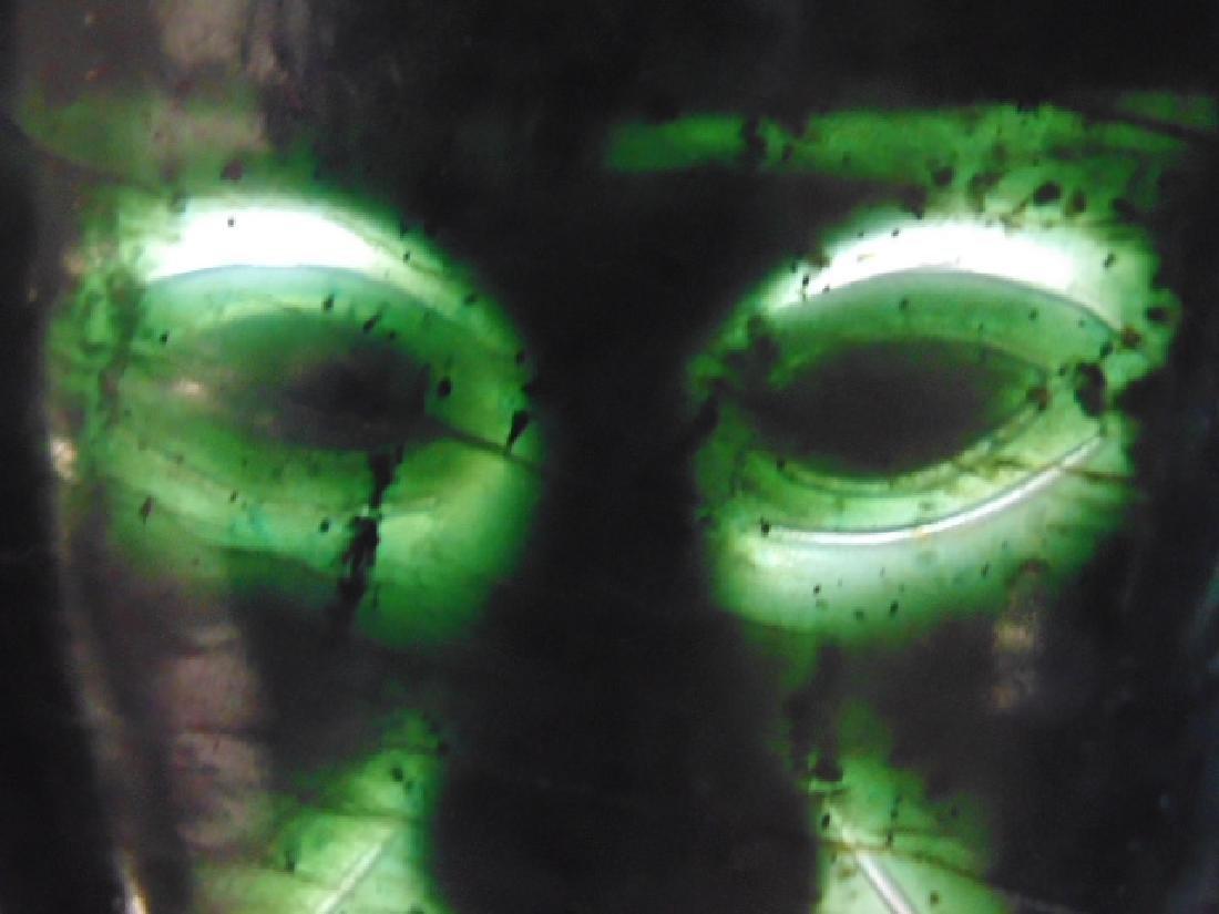"""18k Mayan pendant with jade face 8.4 grams 4 1/8"""" 3 - 9"""