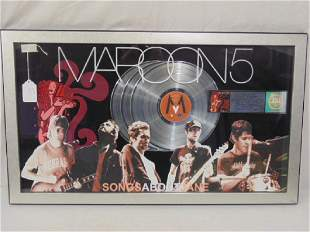 Maroon 5 collage platinum record Presented to Marla