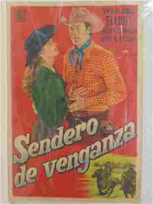 Vintage movie poster Sendero de Venganza with Wild