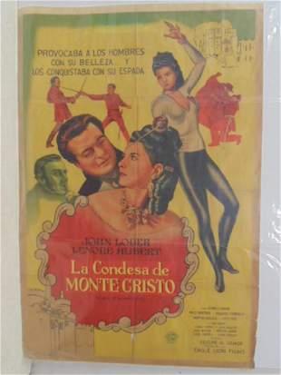 Vintage movie poster La Condesa de Monte Cristo
