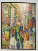 Painting, China Town, Yuri Metelski (Russian Federation