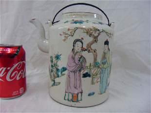 Chinese porcelain teapot various figures extensive