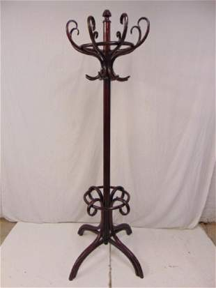 Bentwood coat rack Thonet style height is 80