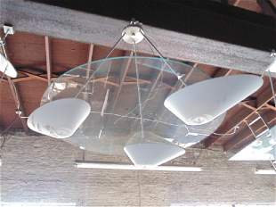 Sandy Littman design hanging fixture MCM design round