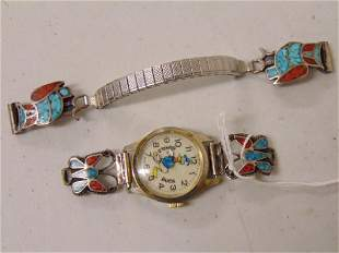 Vintage Donald Duck watch with extra band decorated