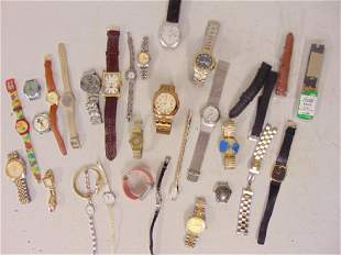 Lot watches including Croton Armitron Stauer with