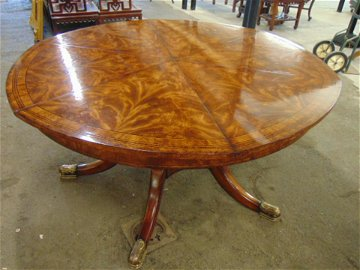 Theodore Alexander Althorp Patent Jupe Table, a round
