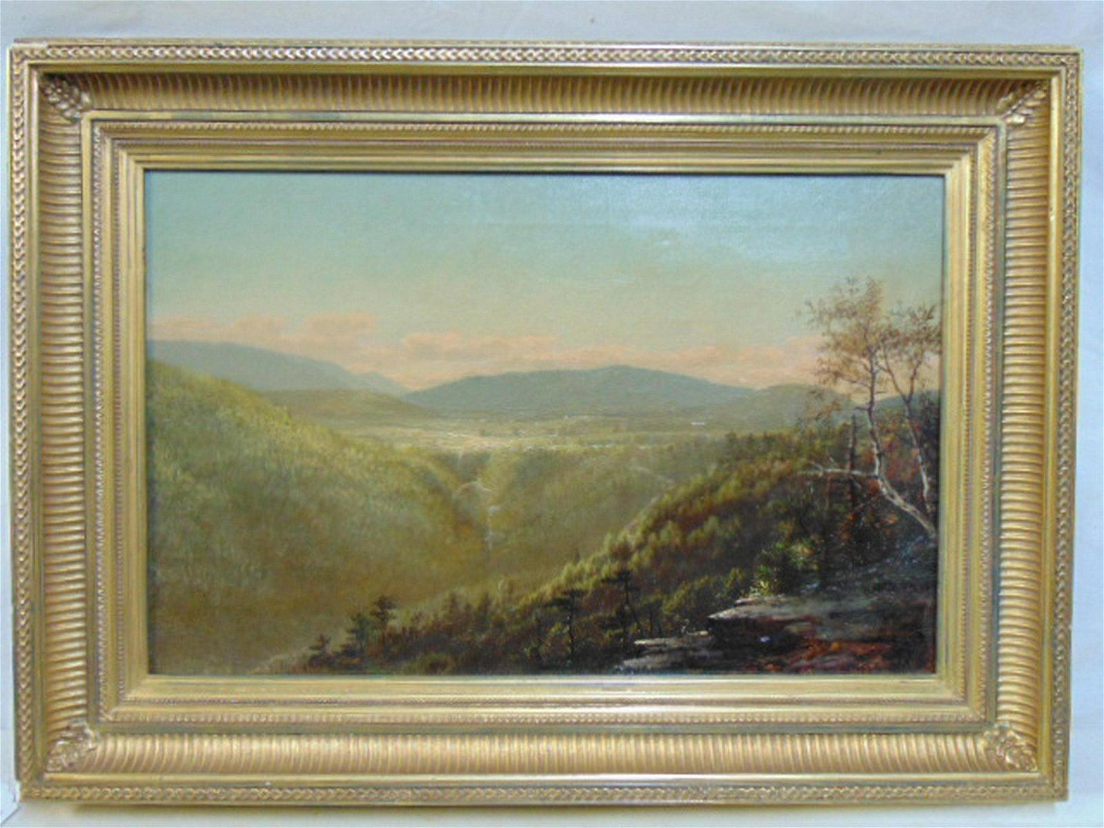 "Painting, landscape, signed ""J.P."", oil on canvas"