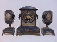 Tiffany & Co Japonica clock set, fine quality clock